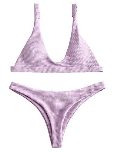 3d5d6205320d9b ZAFUL Damen Bikinis Triangle Bikini Set Badeanzug Push-up gebraucht kaufen  Wird an jeden Ort