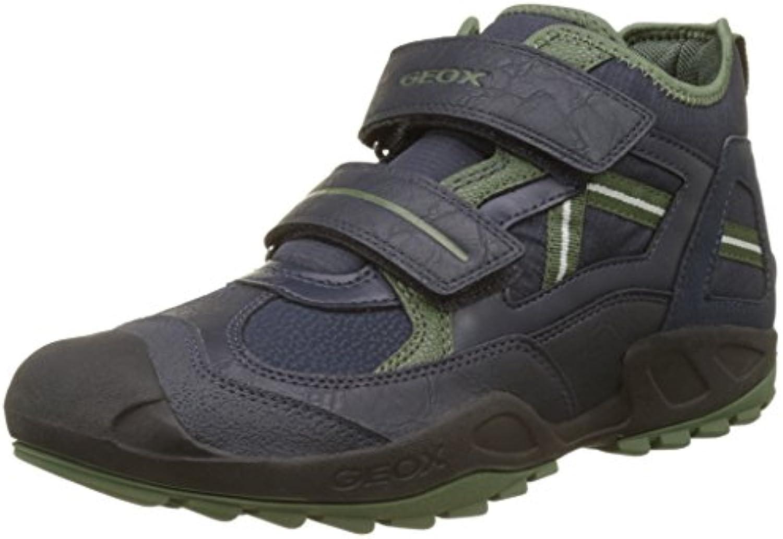 Geox Unisex-Erwachsene J New Savage Boy B Hohe Sneaker Blau (Navy/Green) 41 EU