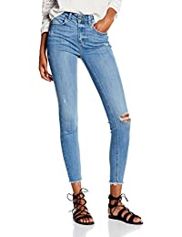Pieces Pcjust New Delly Cropped Ltbld Clw, Jeans Femme