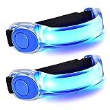 2 Stuck LED Armband,Reflective Nacht Sicherheits Licht, Kinder Nacht Sicherheits Licht,Leuchtband für Joggen, Laufen, Radfahren