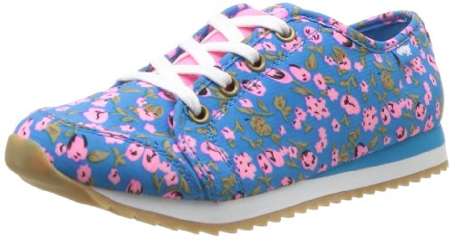 Rockbench Publishing Corp - Sneaker Andrea, Donna Blu (Bleu (Happy Flower Blue))