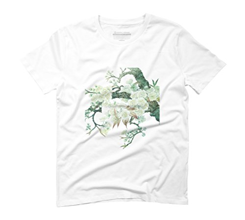 Blooming Peach Blossoms Men's Graphic T-Shirt - Design By Humans White