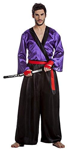 Imagen de disfraz de samurai lila talla xl