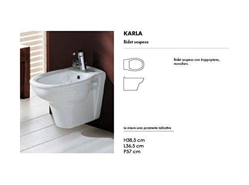 Wall toilets and bidet Karla white wall bidet KABI00002