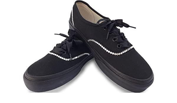 VANS Women s Stunning Authentic Blinged With Swarovski Crystals Black Size  8  Amazon.co.uk  Shoes   Bags 8c580056a560
