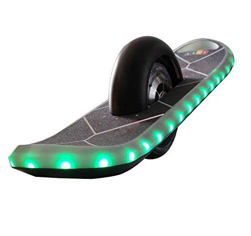 *FunTomia® One-Wheel-Board Elektro Skateboard mit Samsung Lithium Ionen Akku 36V 4,4A, LED Licht und Lautsprecher (Schwarz)*