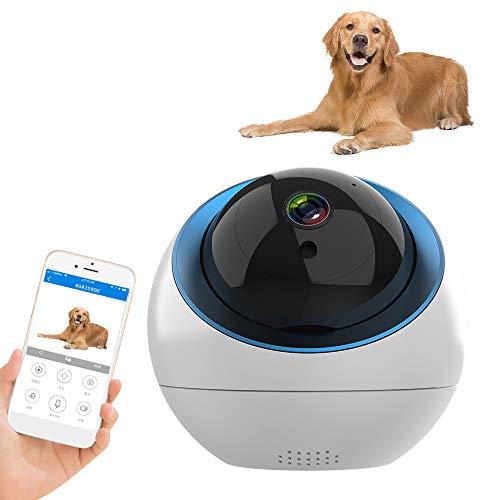 Decdeal Haustier Kamera 720P WLAN IP Kamera Überwachungskamera mit Cloud-Speicher, Bewegungserkennung, Zwei-Wege-Audio, Fernalarm, Nachtsicht, Mobile App Kontrolle als Baby/Haustier-Monitor