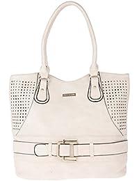 Fur Jaden Women's Handbag(Beige,H303_Beigewhite)
