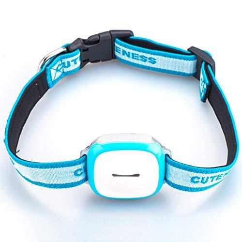 Collar De Mascotas Gps Localizador Inteligente A Prueba Agua El Rastreador Mini Dispositivo Perdido Anti Buscador Perros Alarma En Tiempo Real Monitor Voz Sistema Seguridad,Blue,400*300*250mm