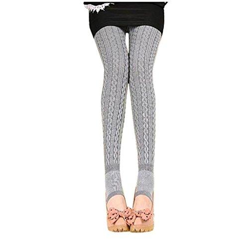 Tongshi Invierno caliente chica mujeres cómodo algodón medias Pantalones Leggings estribo pantalones...