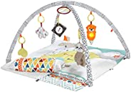 Fisher-Price Perfect Sense Deluxe Gym, extra-large plush playmat and 6 infant activity toys GKD45
