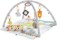 Fisher-Price Perfect Sense Deluxe Gym, Plush Infant Play Mat with Toys GKD45