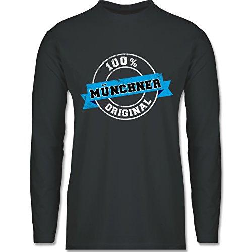 Städte - Münchner Original - Longsleeve / langärmeliges T-Shirt für Herren Anthrazit