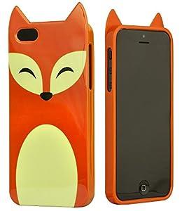 six iphone 5 5s handyh lle fuchs mit ohren orange. Black Bedroom Furniture Sets. Home Design Ideas