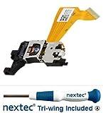 Nextec New - Nintendo Wii Laser Lens RAF-3350 + 2x Screwdriver Toolkit [vide.