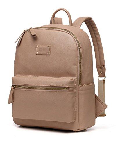 Preisvergleich Produktbild LCY Fashion PU Leder Multifunktions-Rucksack Baby Windel Wickeltasche mit Wickelunterlage
