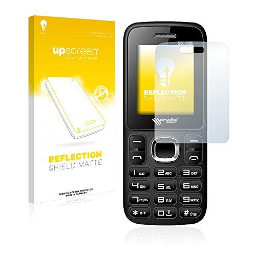 upscreen Matt Schutzfolie für Simvalley Mobile SX-305 – Entspiegelt, Anti-Reflex, Anti-Fingerprint