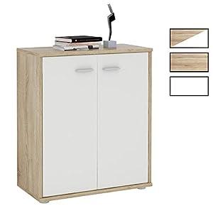 CARO-Möbel Kommode Sideboard Schrank Tommy in Sonoma Eiche, Anrichte mit 2 Türen inklusive Einlegeboden