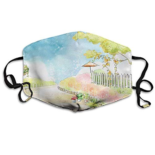 Romantic Corner of Park Printed Mouth Masks Unisex Anti-dust Masks Reusable Face Mask -