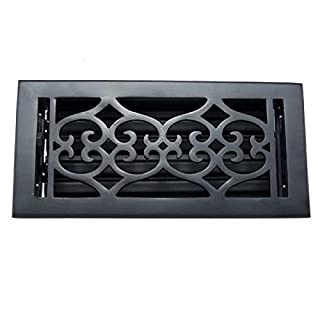 Adonai Hardware Flower Wall And Floor Register with Louver (cast iron, 4