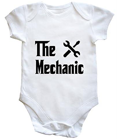 hippowarehouse le mécanicien bébé pour garçons filles - blanc -