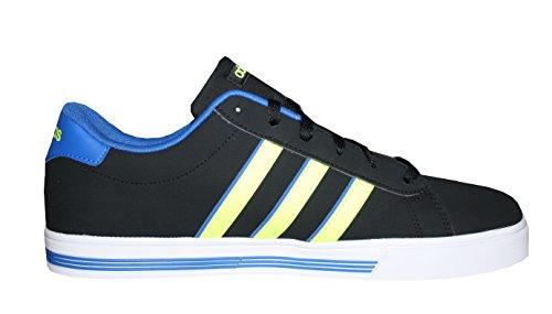 adidas Daily Team, Chaussures de Sport Homme, Bleu, Eu Multicolore - (Noir / Jaune / Bleu (Negbas / Dorsol / Ftwbla))