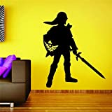 jiushizq Zelda Gamer Papier Peint Autocollant en Vinyle Sticker Décor Voiture Nerd Citation Art Décor Home Decor Room Stickers Noir 58 x 48 cm