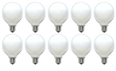 10 x Globe Glühbirne Glühlampe 40W 40 Watt E27 OPAL G95 95mm Globelampe