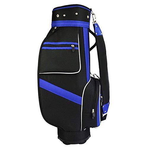 Nylon Golf Stand Bag Standardtasche Golf Bag Golf Stand Bag wasserdichte Golf-Tragetasche Schwarze und Blaue Balltasche mit 5 Kolbenlöchern