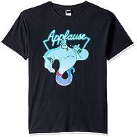 Disney Men's Aladdin Genie Applause Humor Graphic T-Shirt, Black, XXL