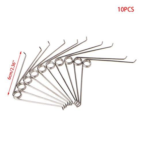 Jenor 10pcs en forme de V en acier à ressort de compression de jardinage Ciseaux Accessoires Outil