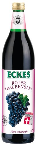 100% Traubensaft (Eckes Roter Traubensaft - 100% Direktsaft, 6er Pack (6 x 750 ml))