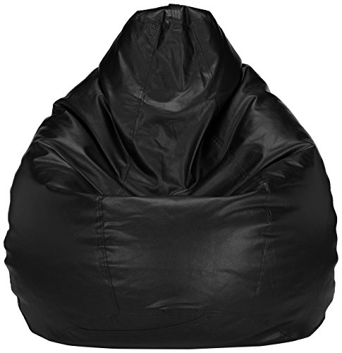 Solimo XXL Bean Bag Cover Without Beans (Black)
