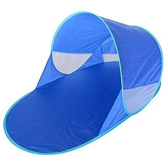 Kiddus Tienda Carpa Refugio de Playa. 100% Proteccion Anti Rayos UV. Pop up automontable y Plegable. Paravientos. Tela Muy Ligera. Ideal para Proteger del Sol y Viento Niños y Bebés