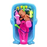 Fansport 7PCS Baby Bath Toy Creative Assorted Baby Shower Toy Bathtub Toy for Toddlers