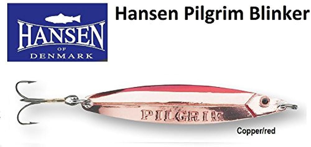 Hansen Pilgrim Meerforellenblinker, Gewicht/Länge:10g - 6.1cm, Farbe:Copper/red