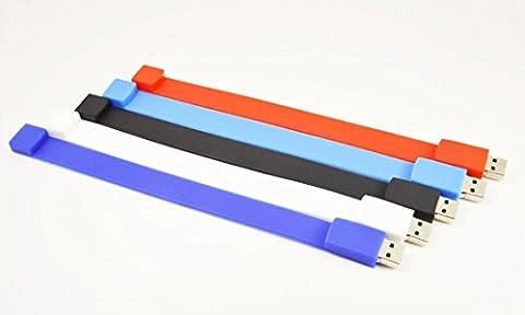 FEBNISCTE 8GB Bulk Multi-Coloured Wristband Usb Flash Drive - Pack of 5