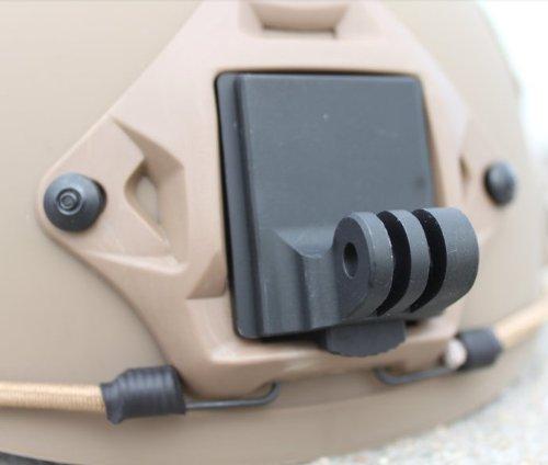 JMT 1 pezzo Casco in alluminio fissata supporto per telecamera Gopro Hero3 Hero2 HD e NVG Mount Base