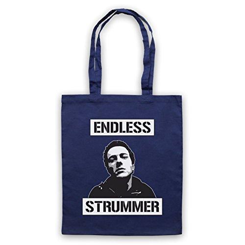 Inspiriert durch Joe Strummer Endless Strummer Inoffiziell Umhangetaschen Ultramarinblau