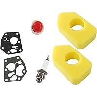Aramox Carburetor Diaphragm Kit Foam Air Filter+Spark Plug+Carburetor Gasket+Primer Bulb+Small Accessory for Briggs /& Stratton Many Small Engines Lawn Mower