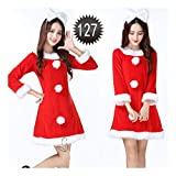 SDLRYF Babbo Natale Vestito Costume di Natale Femmina Rosso Cos Santa Claus  Costume Vestiti(Adatto c6886aec9a26