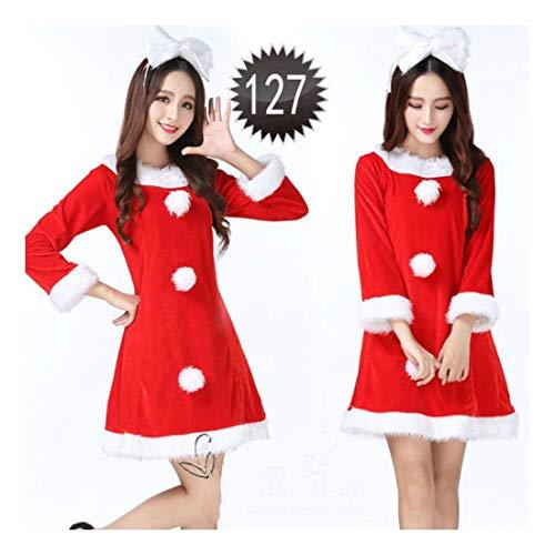 n Kostüm Weihnachten Kostüm Weiblichen Cos Rot Santa Claus Kostüm Kleidung (Geeignet Für 45-55 Kg) ()