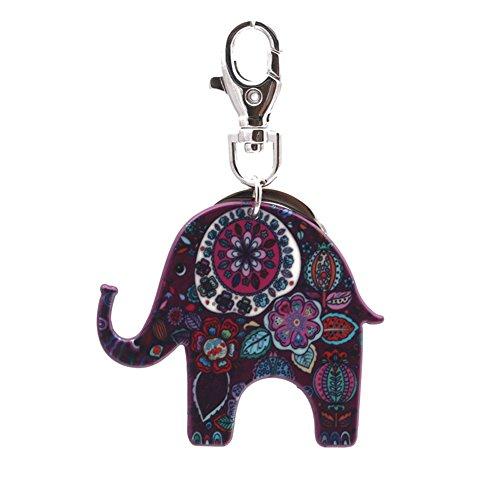 Zantec llavero Elefante de acrílico llavero encantador llavero colgador de bolsa colgante o coche colgar decoraciones