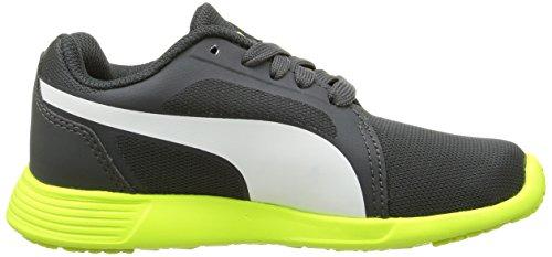 Puma St Trainer Evo Jr Unisex-Kinder Low-Top Grau (dark shadow-white 03)
