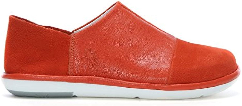 FLY London Mola Orange Leder Slip On Schuhe