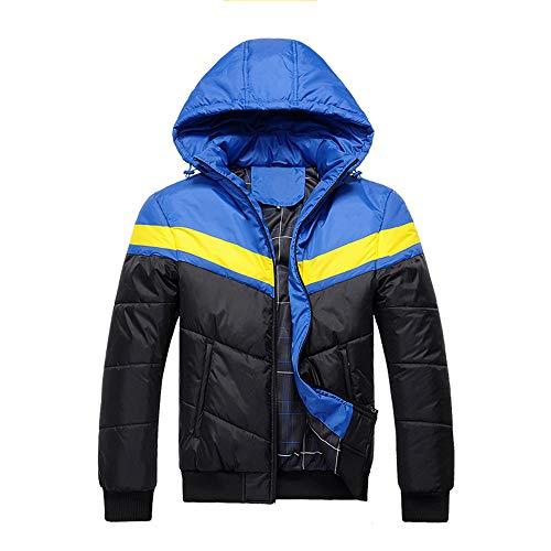 ADESHOP Herren Sport & Outdoor Kleidung, Männlicher Winter, Warmer Kapuzenpullover mit Reißverschluss, Dicker Fleece-Mantel mit Baumwolle gepolsterte Jacke - Resistent Kleidung Kälte
