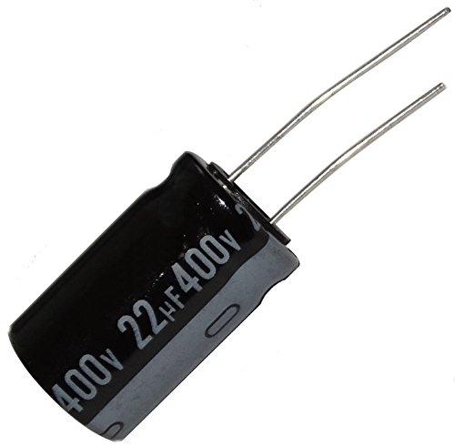 Radial Condensateur /électrolytique 100uF 400V 105/°C Vie 2000H 18x18mm Noir 2pc