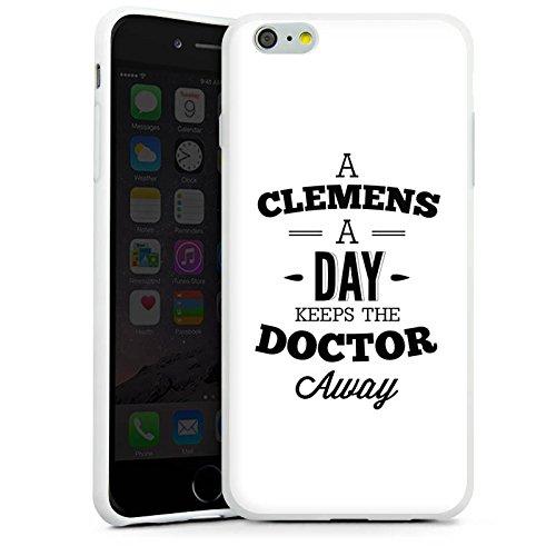 Apple iPhone X Silikon Hülle Case Schutzhülle Clemens Alive Fanartikel Merchandise Youtube Silikon Case weiß
