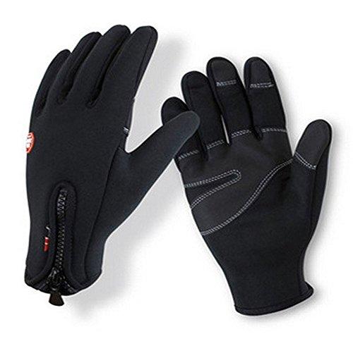 Herren Winter-Handschuhe Anti-Rutsch-Handschuhe Verdickte und wasserdichte Handschuhe für Outdoor-Aktivitäten wie Radfahren Bergsteigen Angeln Wandern Skifahren Fahren Reiten,L (Baseball Handschuh Reebok)