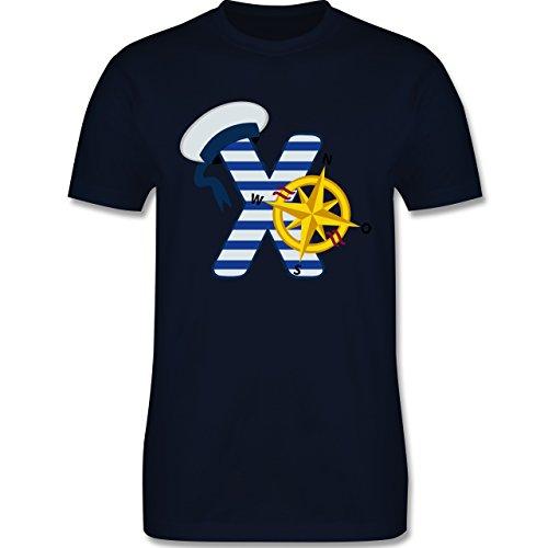 Anfangsbuchstaben - X Schifffahrt - Herren Premium T-Shirt Navy Blau